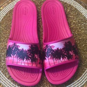 Crocs slide on flip flops